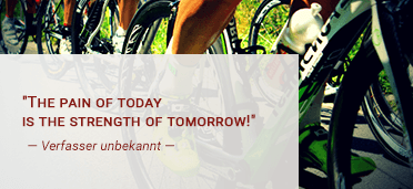 The pain of today is the strength of tomorrow! — Verfasser unbekannt —